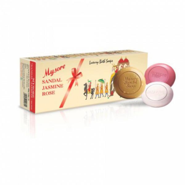 Mysore Sandal Jasmine Rose Soap, 450gm