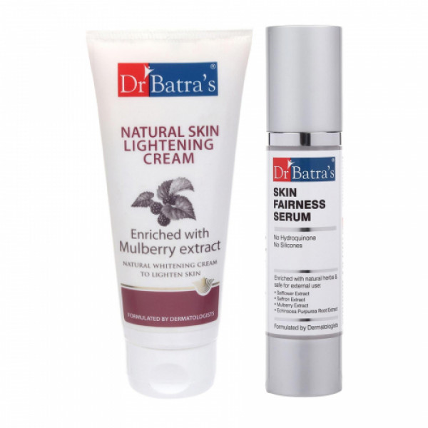 Dr Batra's Natural Skin Cream With Skin Serum Combo Pack