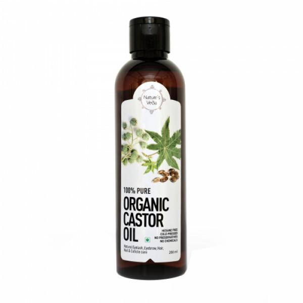 Nature's Veda Organic Castor Oil, 200ml