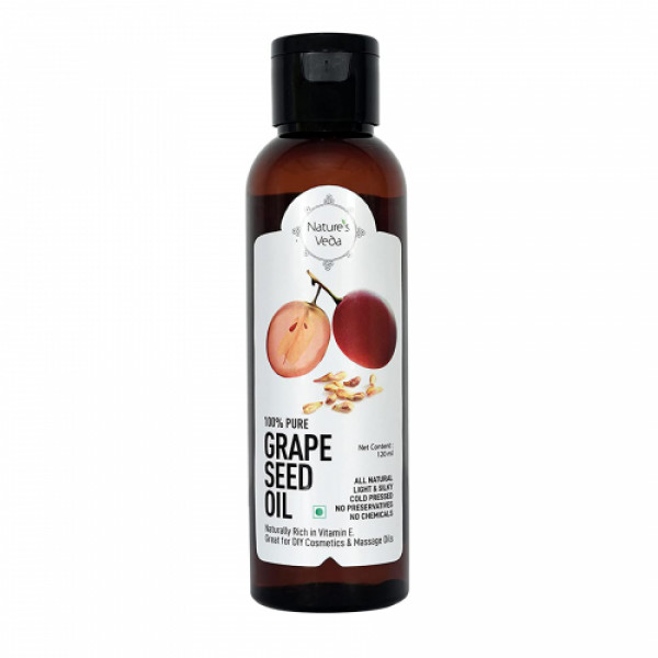 Nature's Veda Grape Seed Oil, 120ml