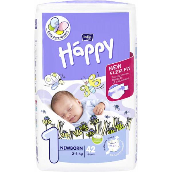 Bella Baby Happy Diapers Newborn, 42 Pieces