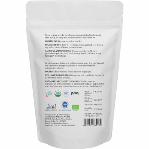 Aarshaveda Organic Neem Leaf Powder, 200gm