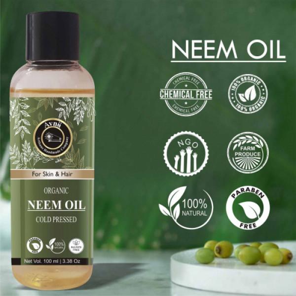Avnii Organics Cold Pressed Neem Oil, 100ml