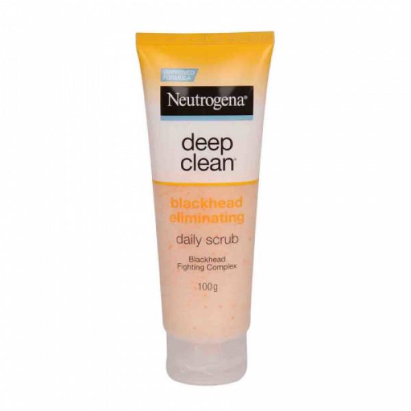 Neutrogena DeepClean Blackhead Eliminating Daily Scrub, 100gm