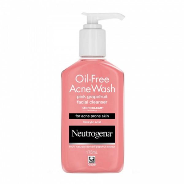 Neutrogena Oil Free Acne Wash Pink Grapefruit Facial Cleanser, 175ml