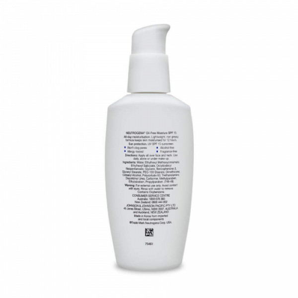 Neutrogena Oil-Free Moisturizer SPF15, 115ml