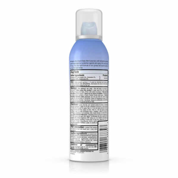 Neutrogena Ultra Sheer Body Mist SPF30, 141gm