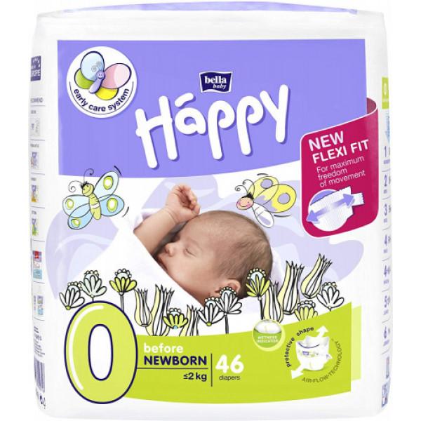 Bella Baby Happy Diapers Before Newborn, 46 Pieces