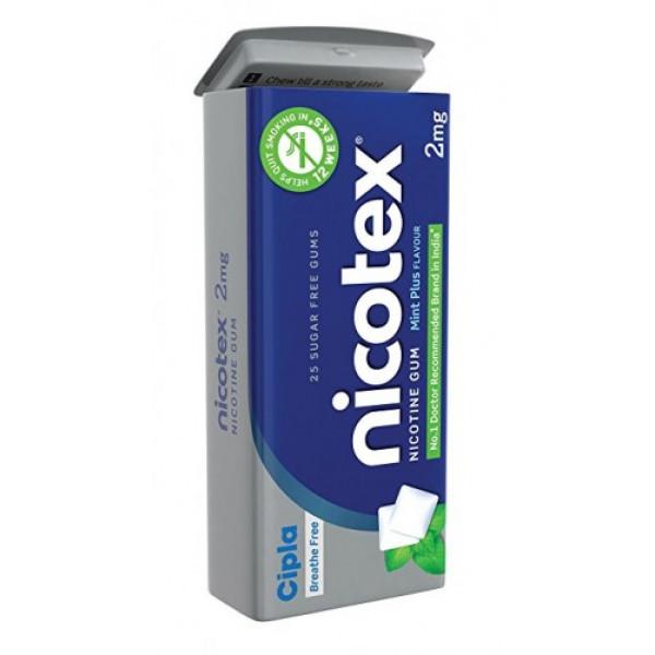 Nicotex 2mg Mint Plus Tin, 25 Gums