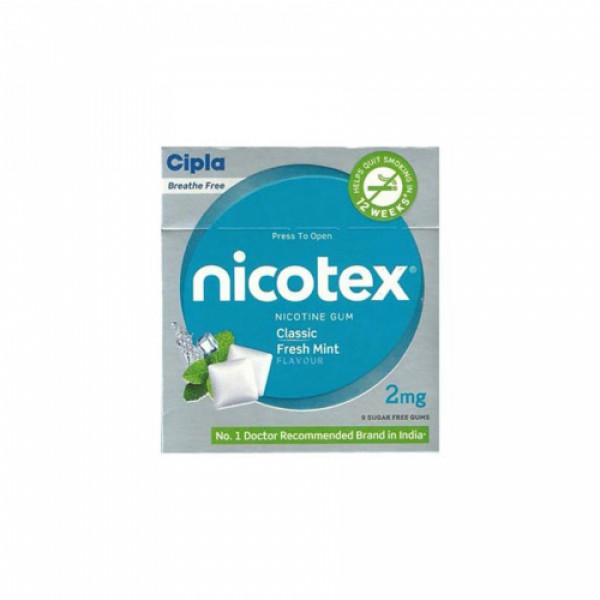 Nicotex 2mg Classic Fresh Mint, Pack of 3