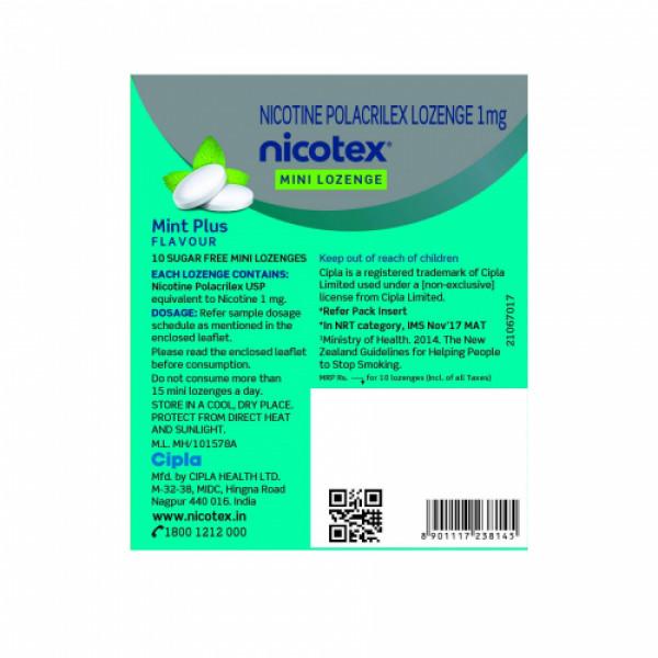 Nicotex Mini Lozenge Mint 1mg, 10's