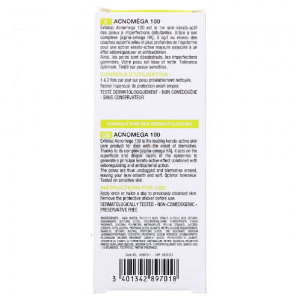 noreva Exfoliac 100 Acnomega Gel, 30ml