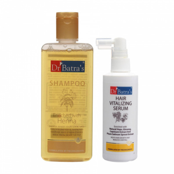 Dr Batra's Normal Shampoo With Hair Vitalizing Serum Combo Pack