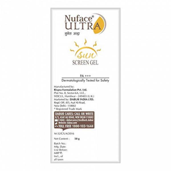 Nuface Ultra Sunscreen SPF 40 Gel, 50gm