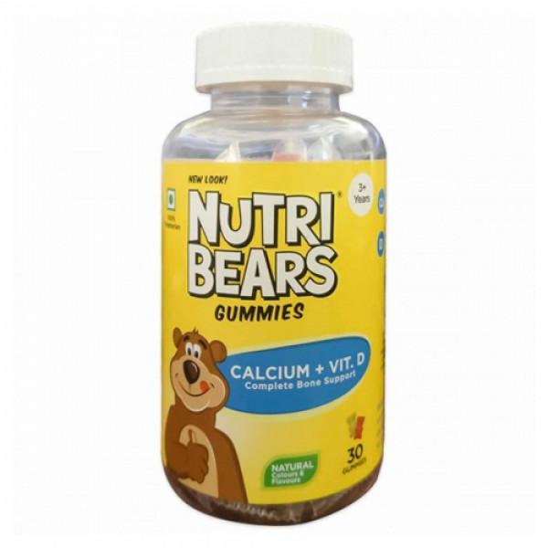 Nutribears Calcium with Vitamin D, 30 Gummies