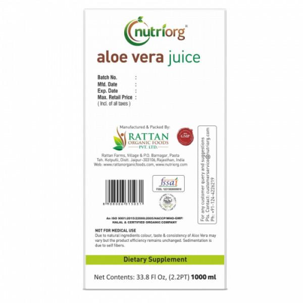 Nutriorg Aloevera Juice, 1000ml