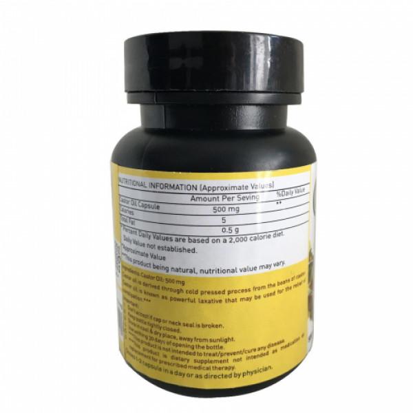 Nutriorg Castor oil soft gel, 60 Capsules