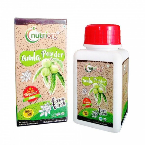 Nutriorg Organic Amla Powder, 100gm (Pack of 3)