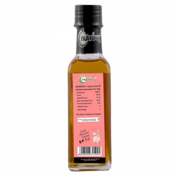 Nutriorg Organic Castor Oil, 100ml (Pack of 2)