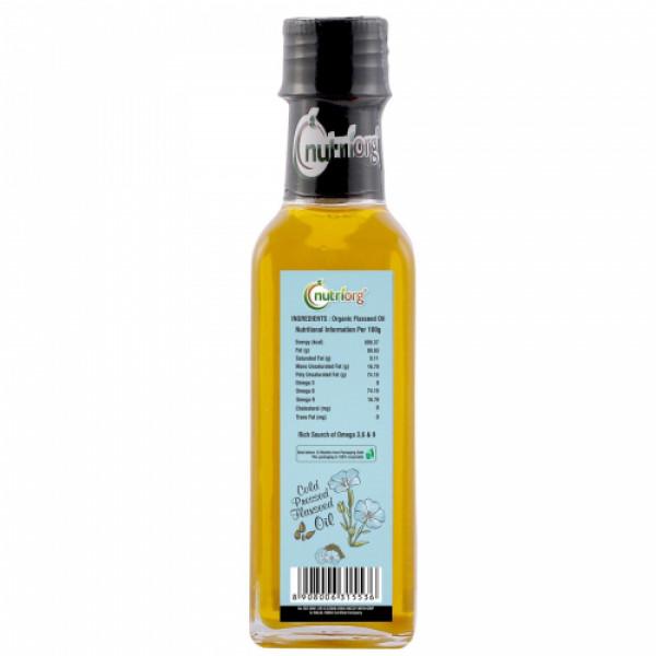 Nutriorg Organic Flaxseed Oil, 100ml (Pack of 2 )