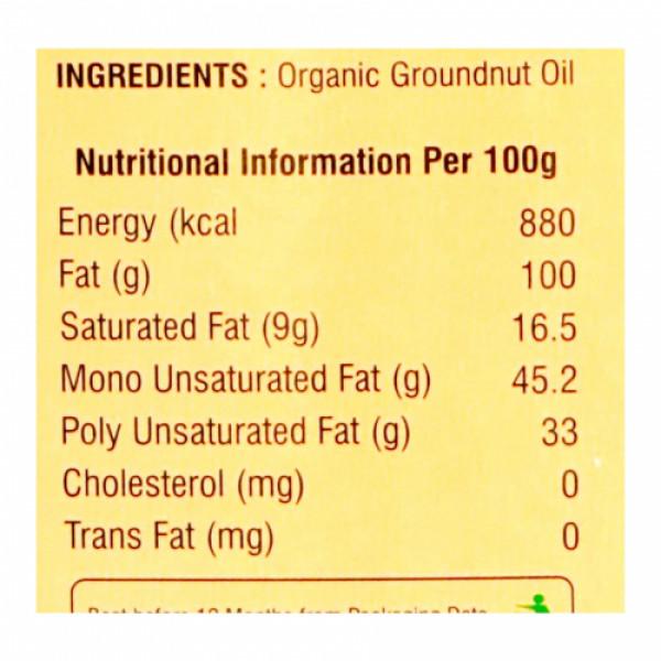 Nutriorg Organic Groundnut Oil, 500ml (Glass Bottle)