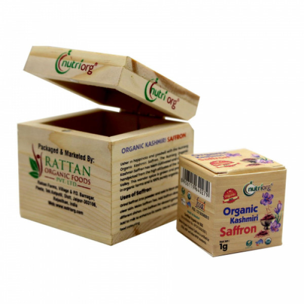 Nutriorg Organic Kashmiri Saffron, 1gm