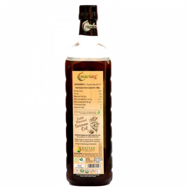 Nutriorg Organic White Sesame Oil, 1000ml