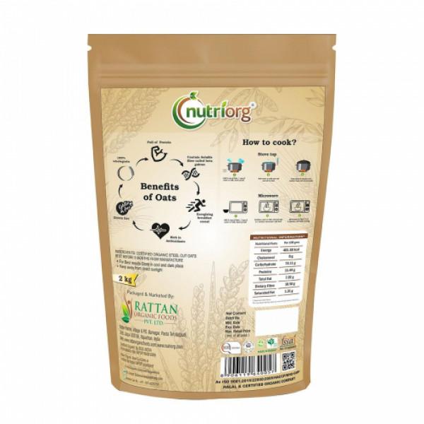 Nutriorg Organic Steelcut Oats, 2000gm