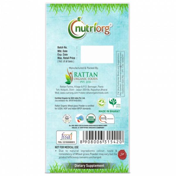 Nutriorg Organic Wheatgrass powder, 100gm