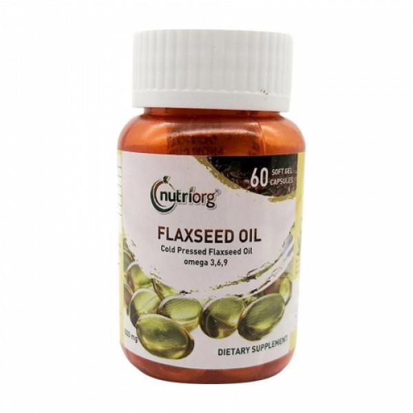 Nutriorg Flaxseedoil soft gel, 60 Capsules