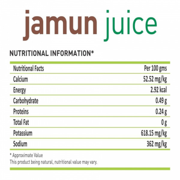 Nutriorg Jamun Juice, 500ml