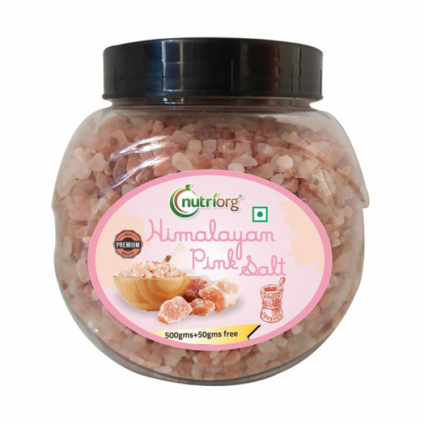 Nutriorg Pink Salt, 550gm (Pack of 3)