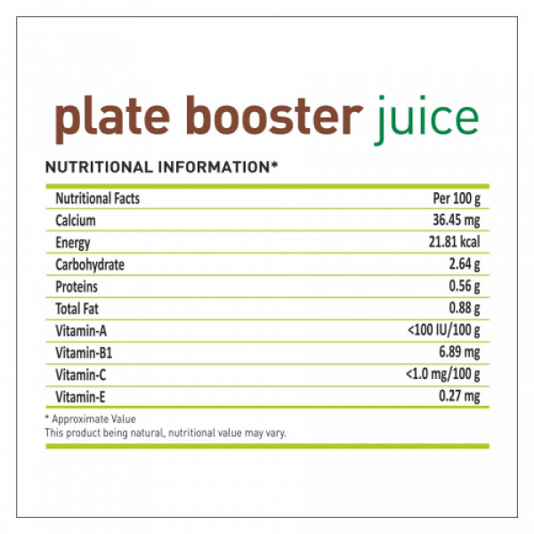Nutriorg Plate booster Juice, 500ml