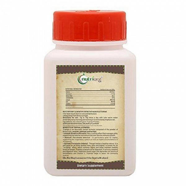 Nutriorg Triphla Powder, 100gm (Pack of 3)