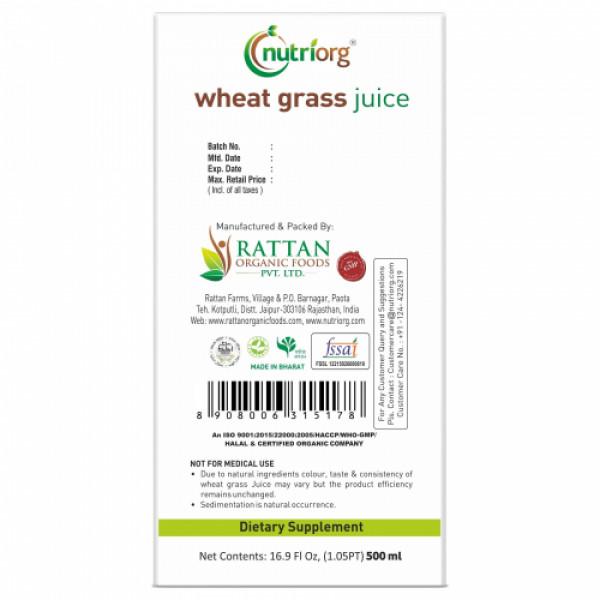 Nutriorg Wheatgrass Juice, 500ml