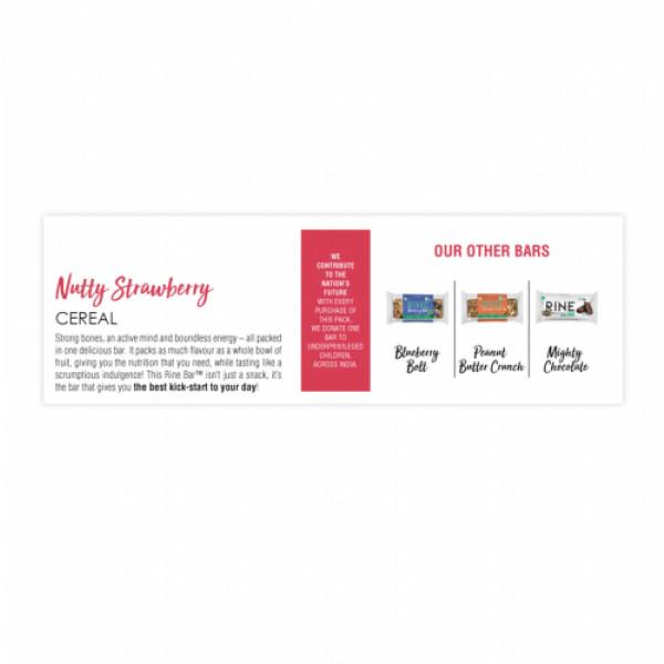 Rine Nutty Strawberry Granola Bar, 50gm (Pack Of 6)