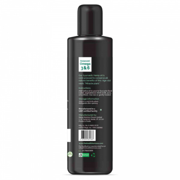 Health Horizons Hemp Sativa Oil, 200ml