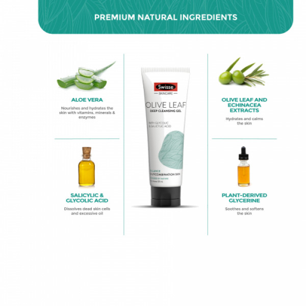 Swisse Skincare Olive Leaf Deep Cleansing Gel, 125ml