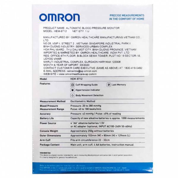 Omron HEM-8712 Automatic Blood Pressure Monitor