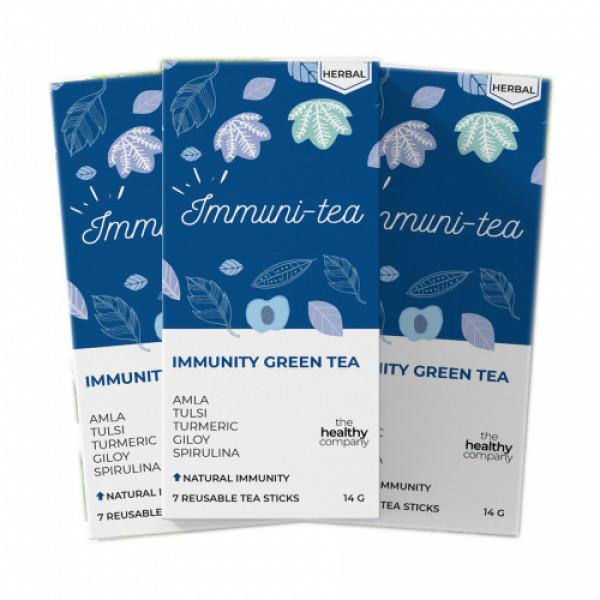 The Healthy Company One Month Immunity Green Tea, 56 Tea Sticks