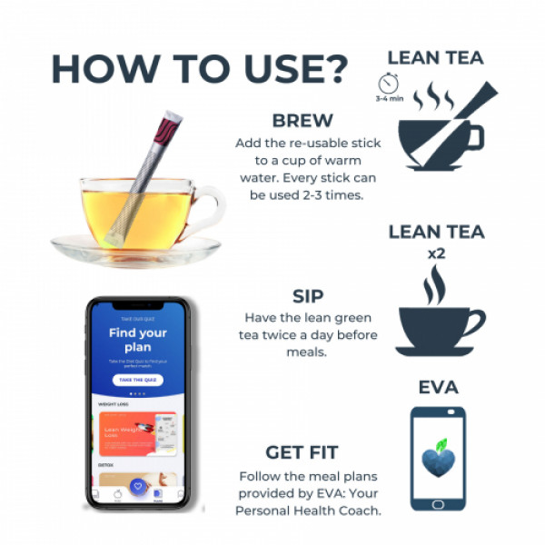 The Healthy Company Lean Green Tea With Lean Bar - One Month weight loss (Peach)