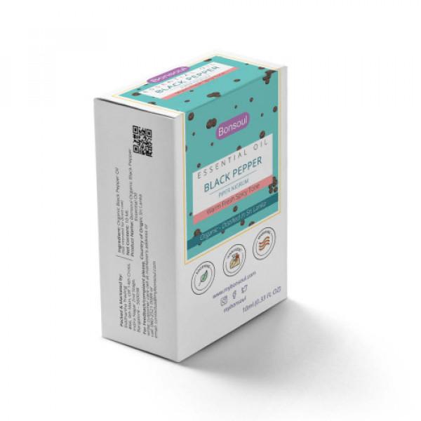 Bonsoul Organic Black Pepper Essential Oil, 10ml
