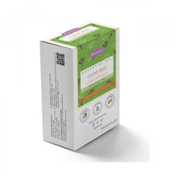 Bonsoul Organic Clove Bud Essential Oil, 10ml