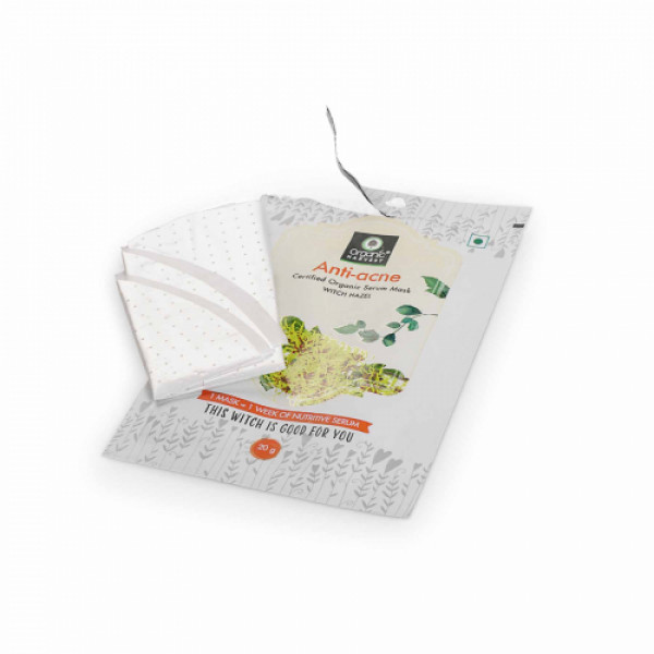 Organic Harvest Anti-Acne Face Sheet Mask, 20gm (Pack Of 10)