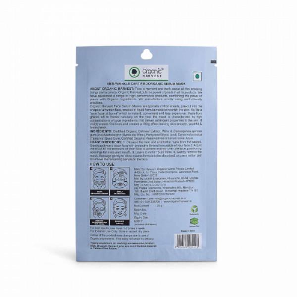 Organic Harvest Anti-Wrinkle Face Sheet Mask, 20gm (Pack Of 10)