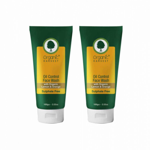 Organic Harvest Oil Control Face Wash, 100gm (Pack Of 2)