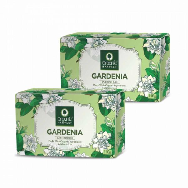 Organic Harvest Gardenia Bathing Bar, 110gm (Pack Of 2)