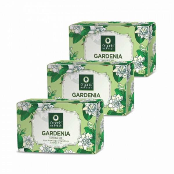Organic Harvest Gardenia Bathing Bar, 110gm (Pack Of 3)