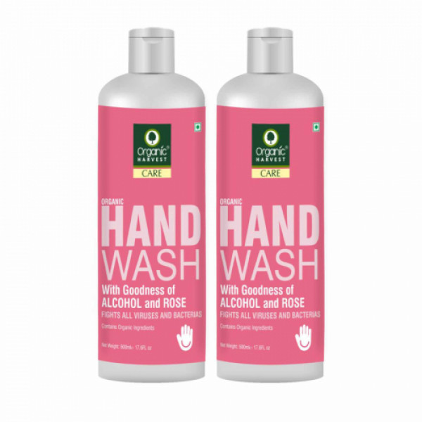 Organic Harvest Rose Hand Wash, 500ml (Pack Of 2)