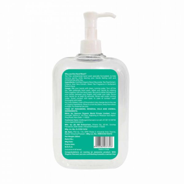 Organic Harvest Tea Tree Hand Wash, 250ml (Pack Of 3)